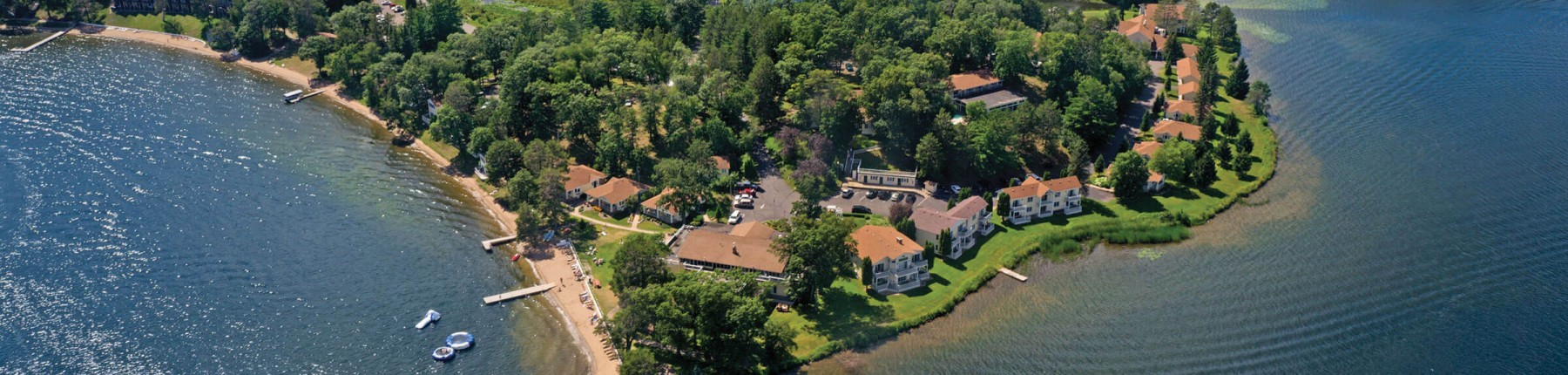 Madden's aerial view - Gull Lake Resort