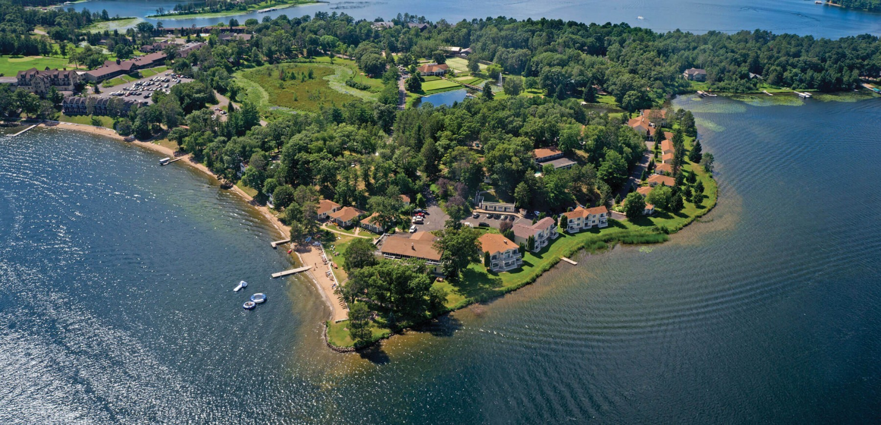 Madden's aerial view - Gull Lake Resort