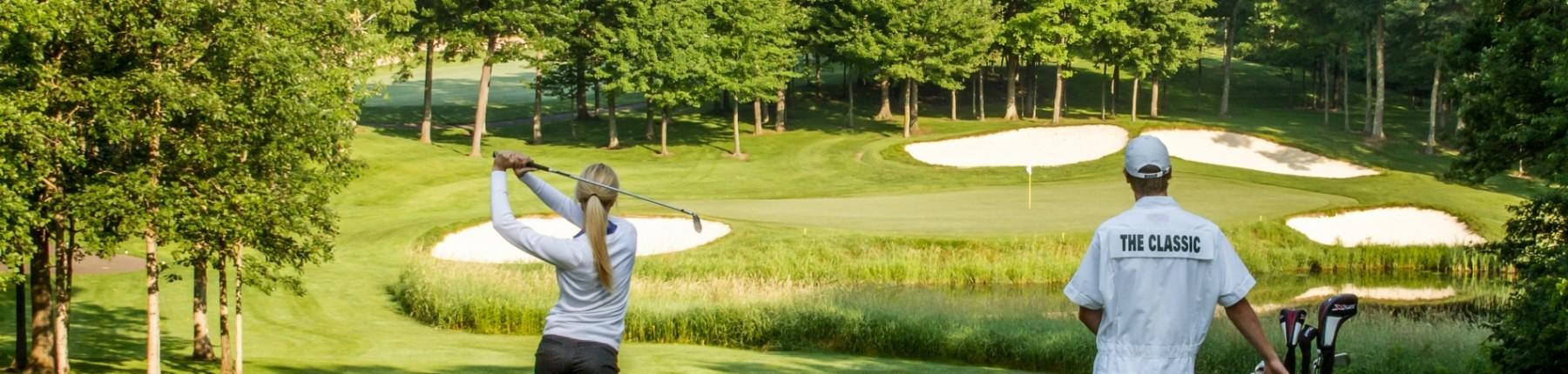 Golfing at Madden's