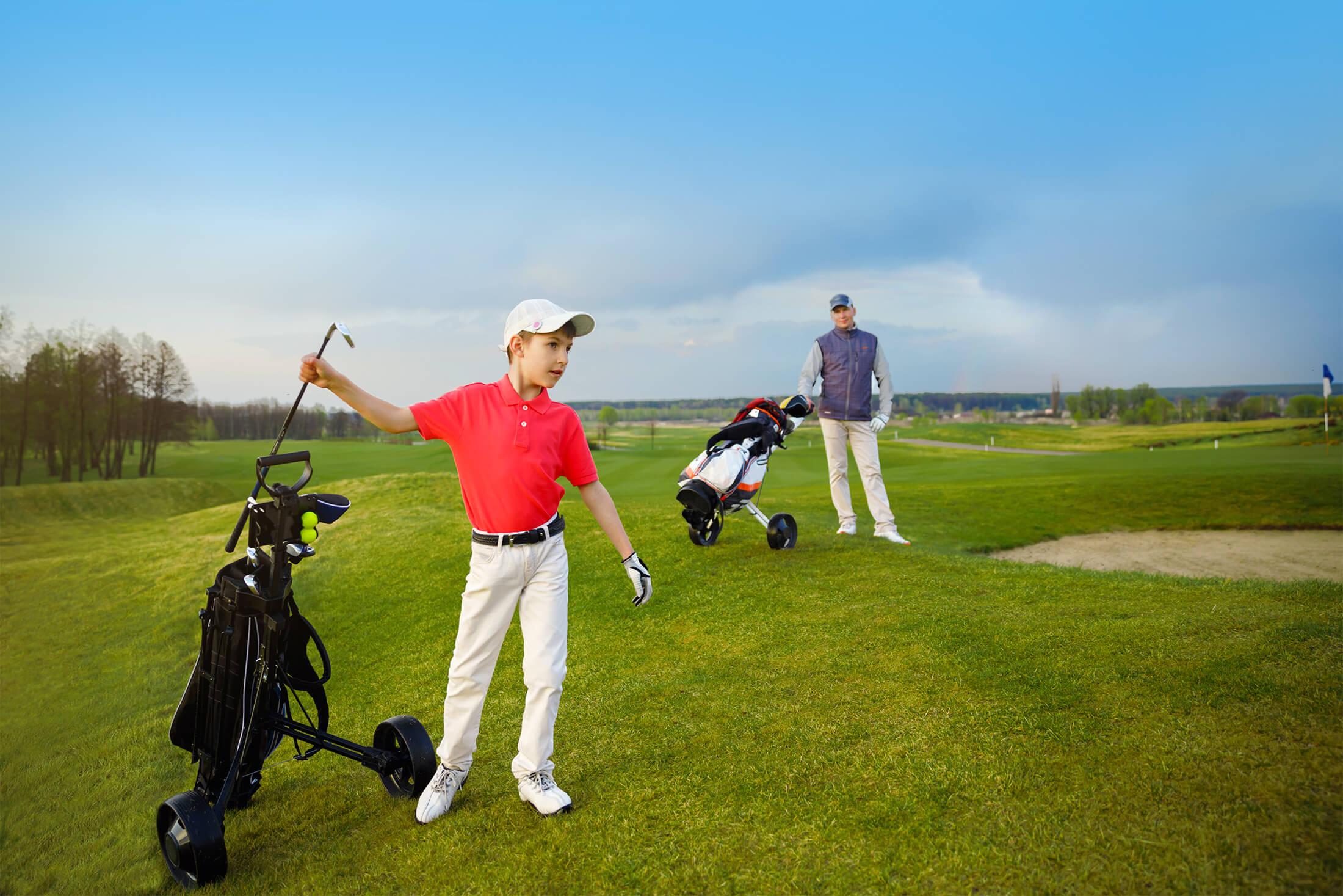 Family golf at Madden's golf resort