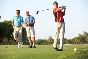 Group golfing at Madden's
