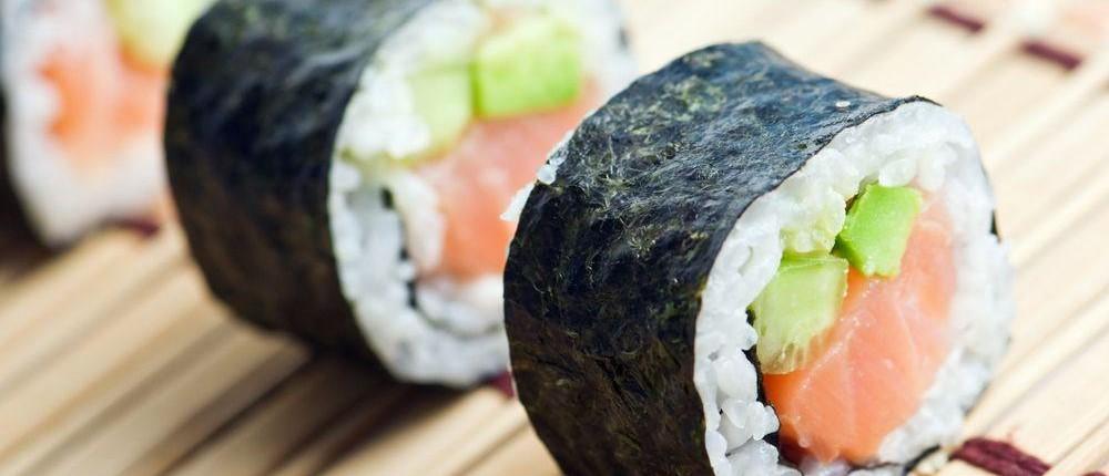 Sushi rolls at Madden's restaurants in Brainerd MN