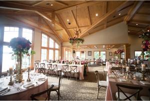 Interior shot of dining room at Madden's Inn