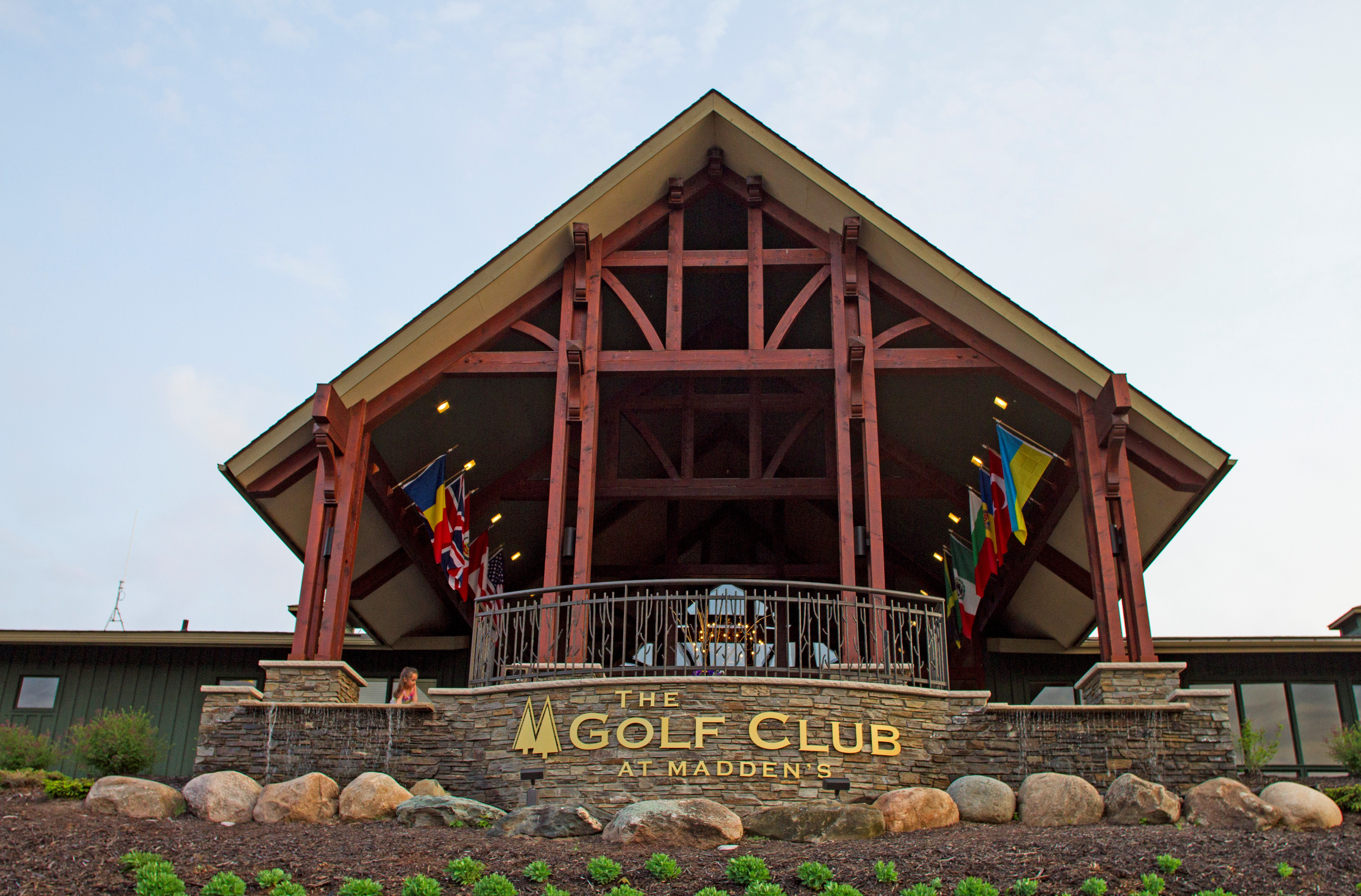 Exterior shot of the Golf Club at Madden's on Gull Lake