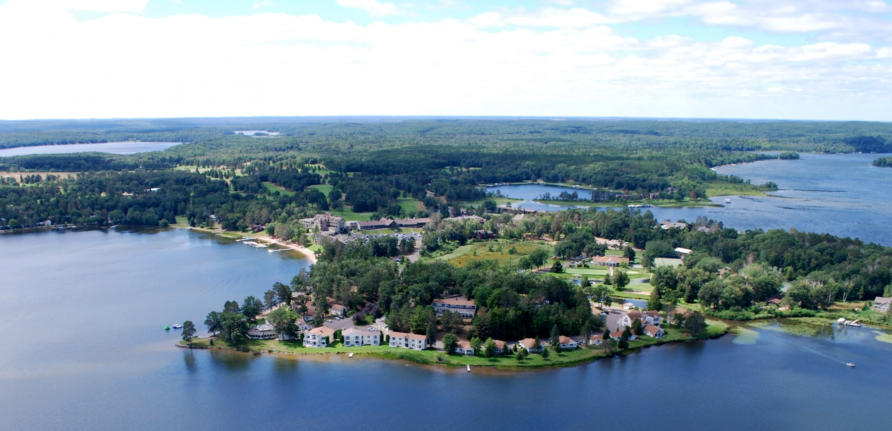 Aerial view of Madden's on Gull Lake