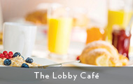 Beautiful continental breakfast from the Lobby Cafe at Madden's on Gull Lake