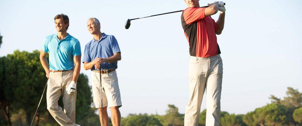 Three Men Golfing