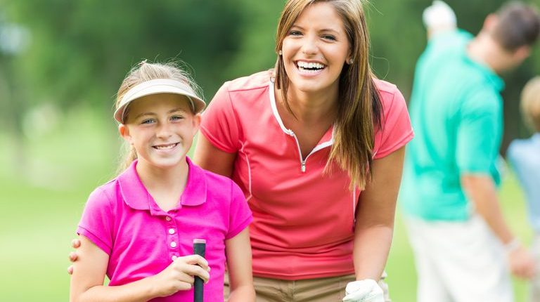 Mother and Daughter Golf