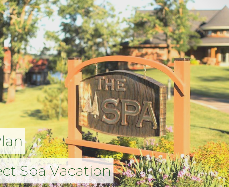 Outdoor signage for The Spa at Madden's