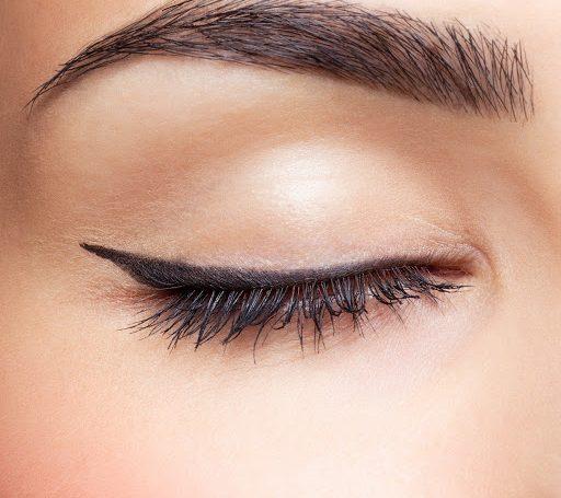 Closeup of eyes and eyebrow