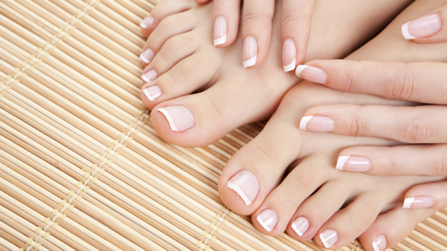 French manicured hands and feet