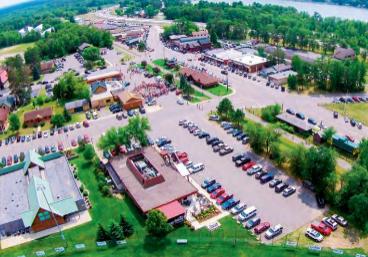 Aerial view of Nisswa city