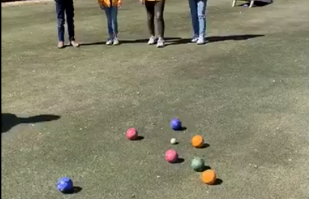 Bocce balls on the golf course