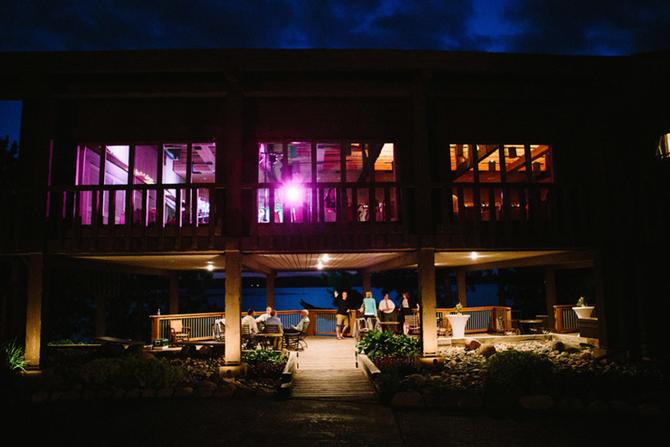 Pemmican Room Exterior at Night