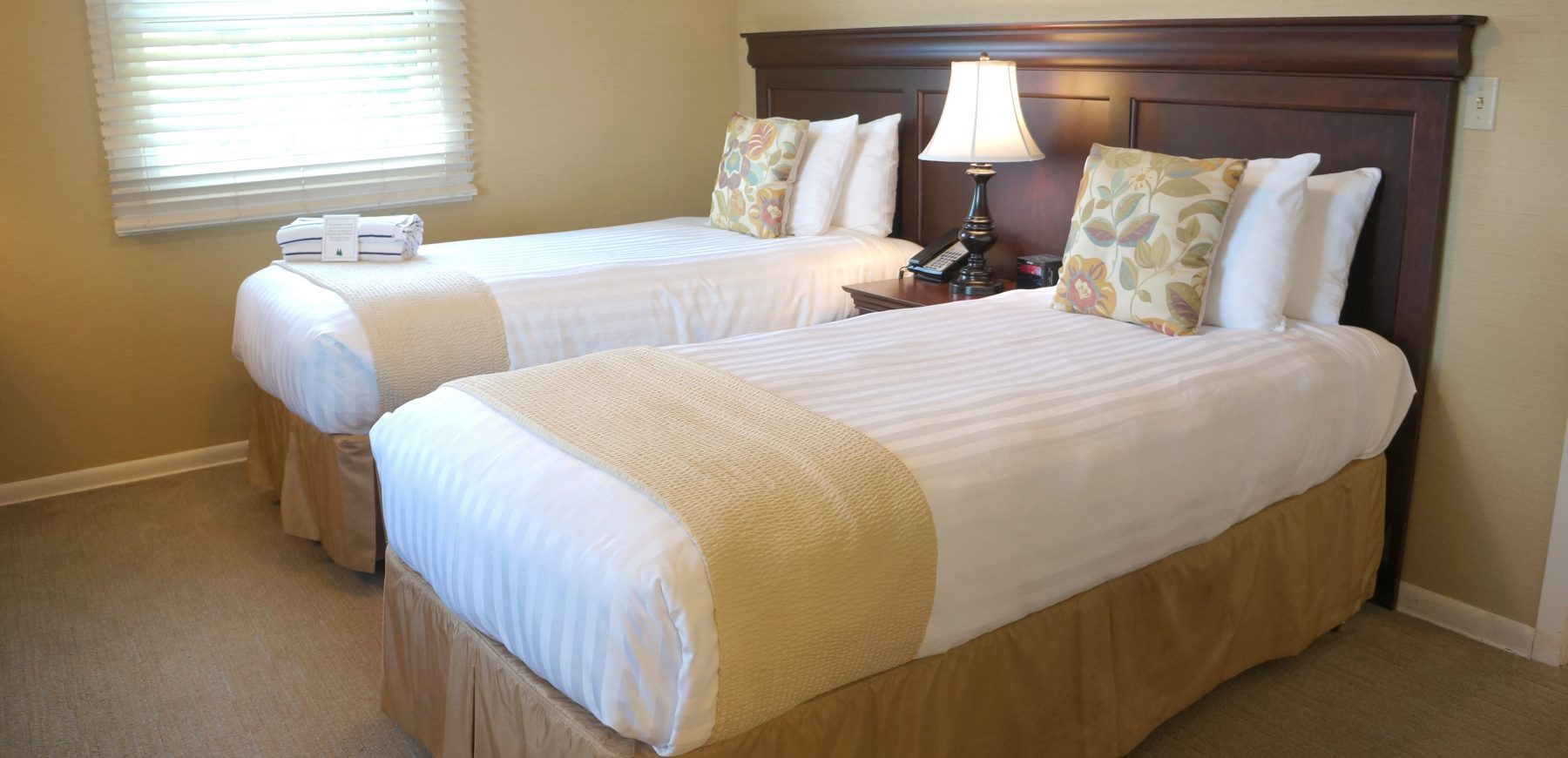 Two Twin Beds in the Lake House bedroom