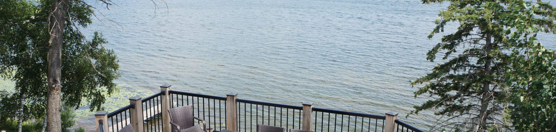 Lake House Deck View