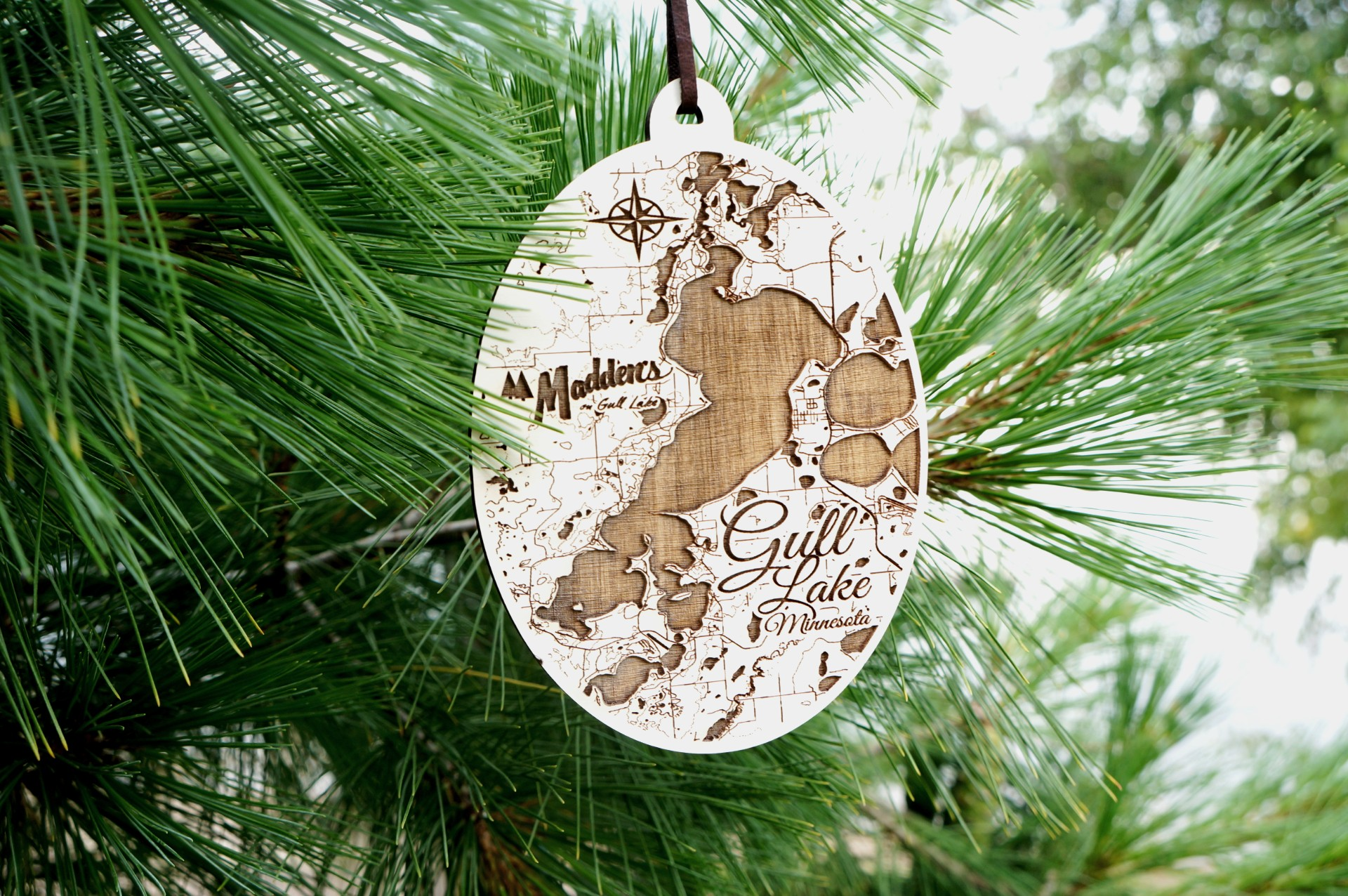 Madden's Etched Wood Ornament