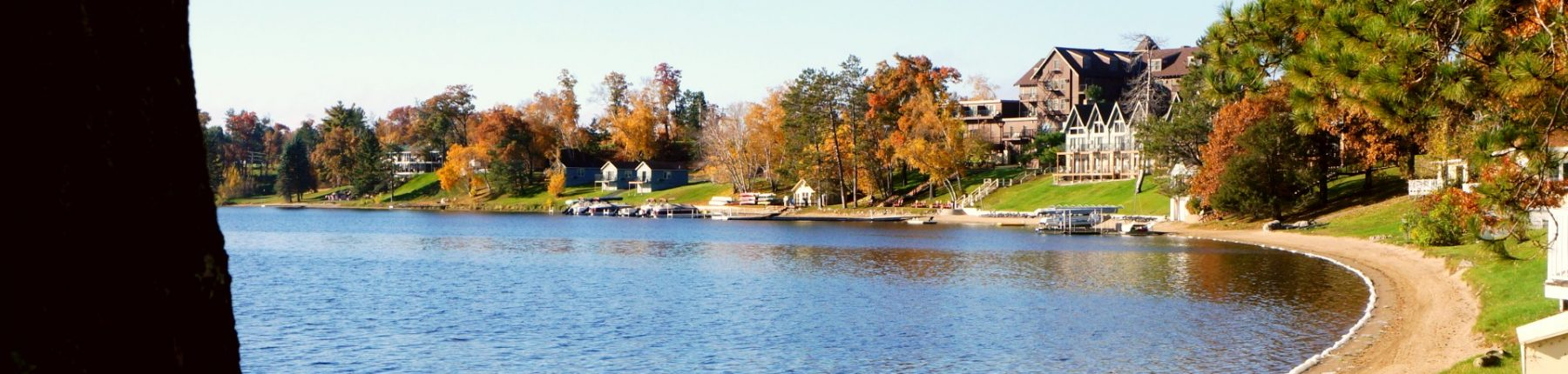 The Gull Lake and its surroundings during fall