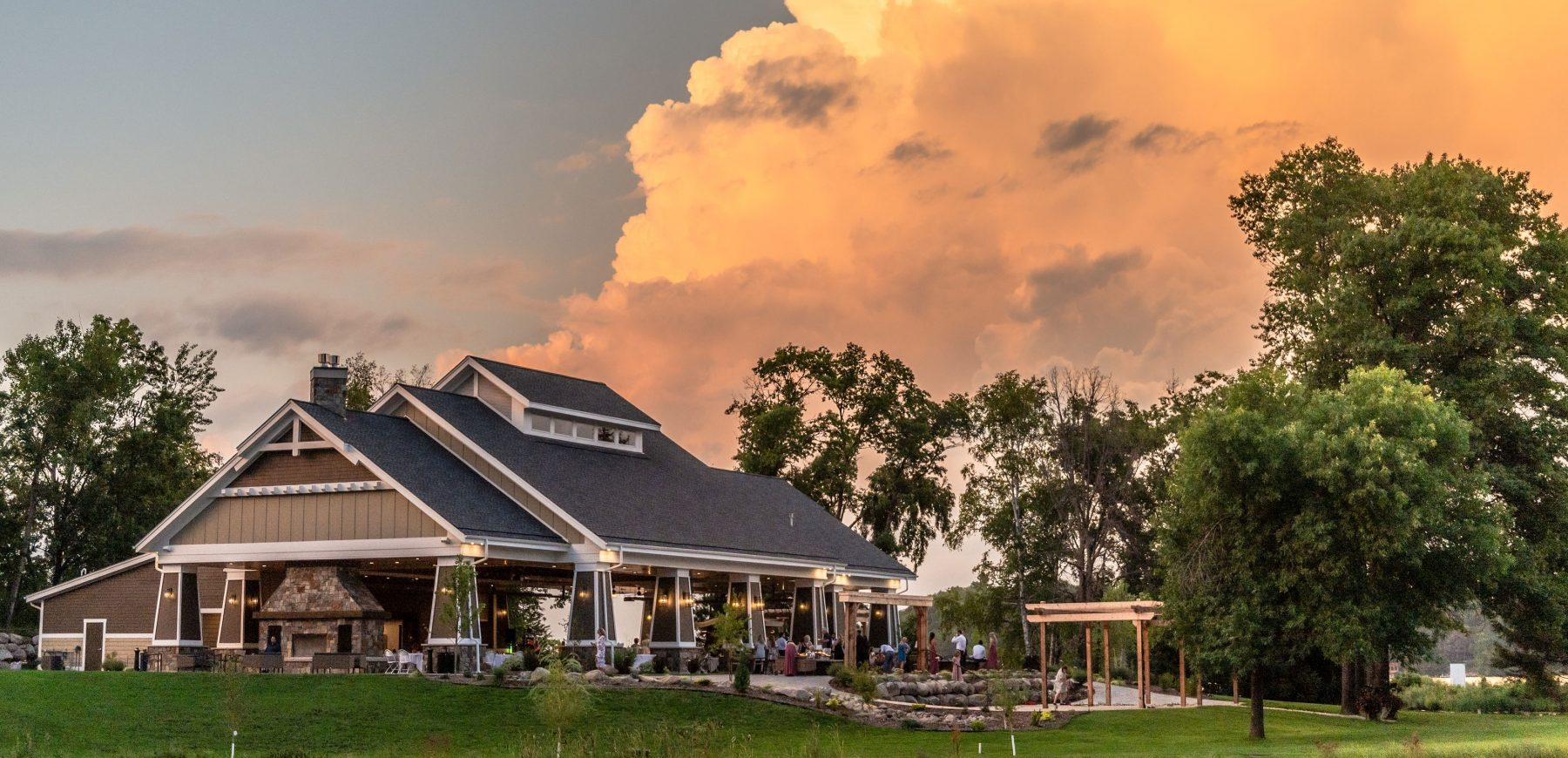 The Pavilion at Madden's during sunset