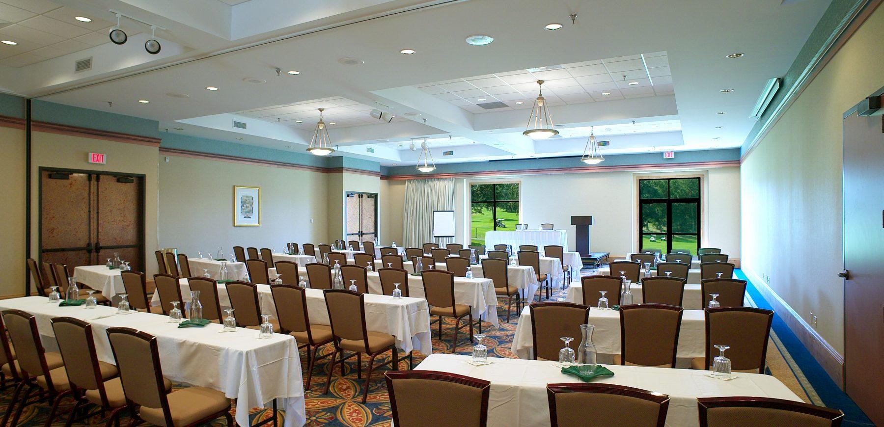 Meeting setup at Golf Villa