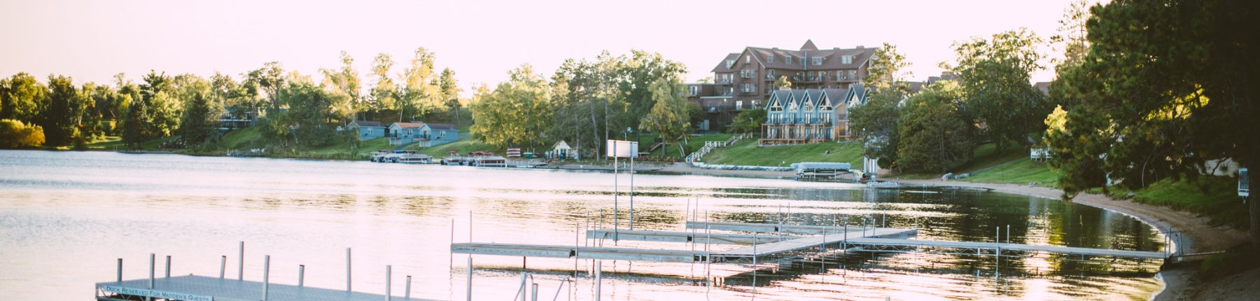 The dock at Madden's on Gull Lake