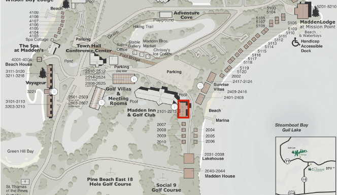Steamboat Bay Studio Cottages Map