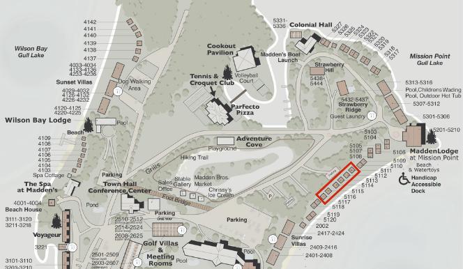 Mission Point 2 Bedroom Cottages Map