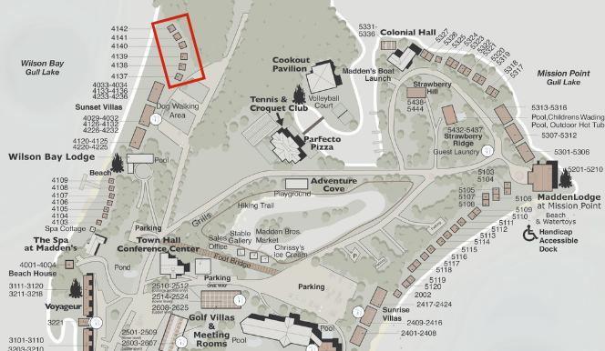 wilson bay map illustration