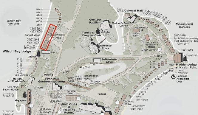sunset villas map illustration