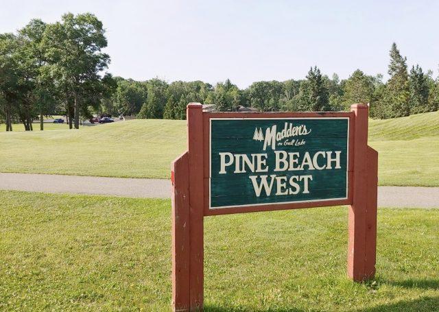 pine beach west wooden sign