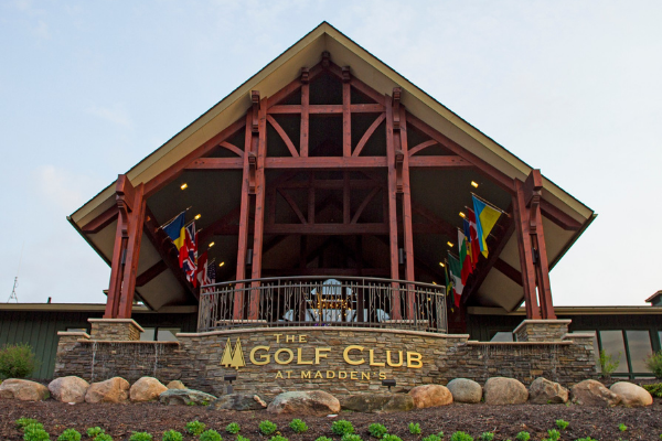 exterior of the golf club at maddens