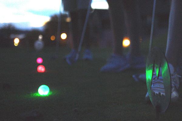 glow in the dark golf balls at night