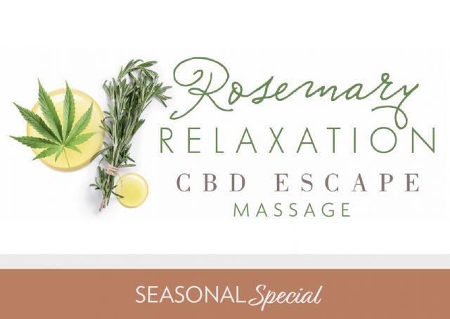 rosemary relaxation cbd escape massage