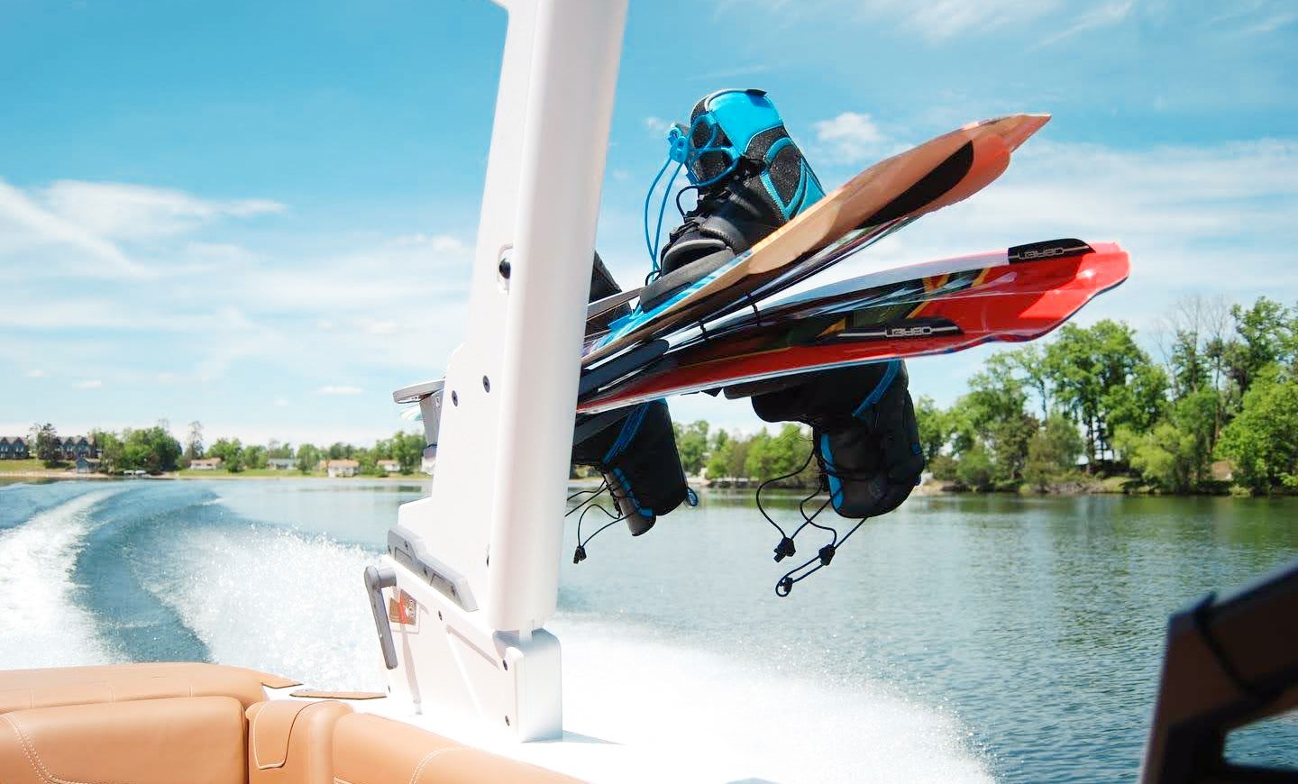 Water Skis on boat at Madden's on Gull Lake