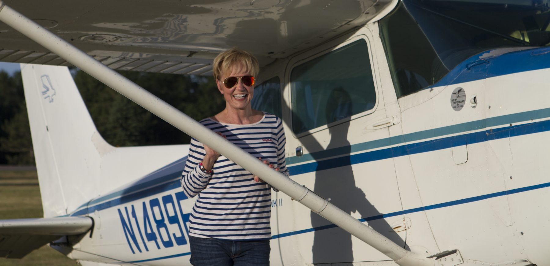 Mary Alverson with 172 Amphib Seaplane