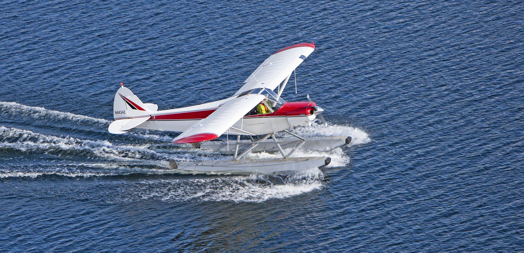 Super Cub Seaplane on Water