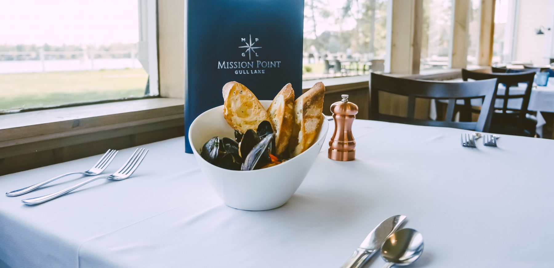 bowl of mussels at mission point