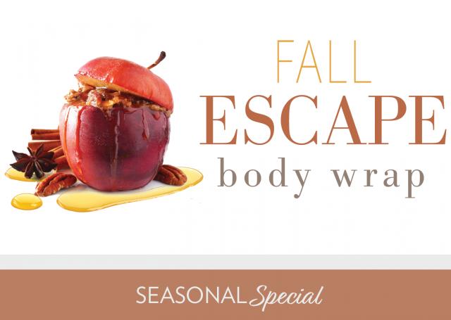 fall escape body wrap seasonal special