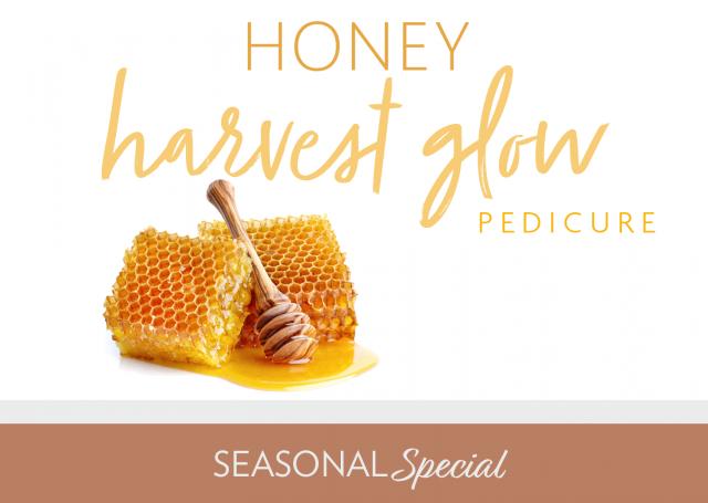honey harvest glow pedicure seasonal special